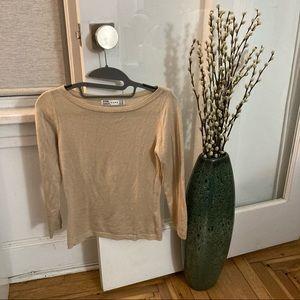 Zara Nude/Cream Boat Neck Sweater Top S